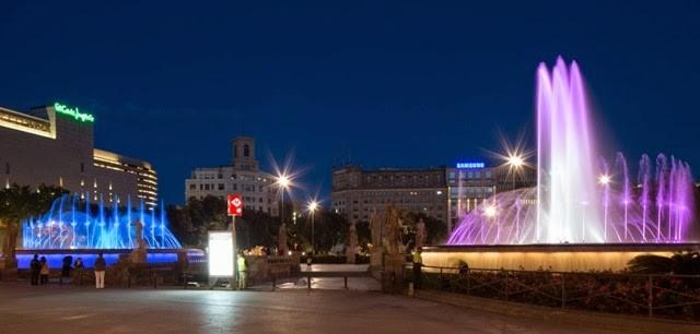 Фонтаны на площади Каталонии