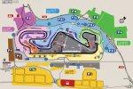 Схема трибун и парковок на треке
