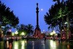 Ла Рамбла и памятник Колумбу