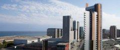 Вид на море и город с террасы