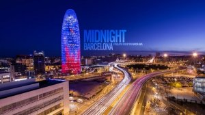 Ночная Барселона с крыши автобуса