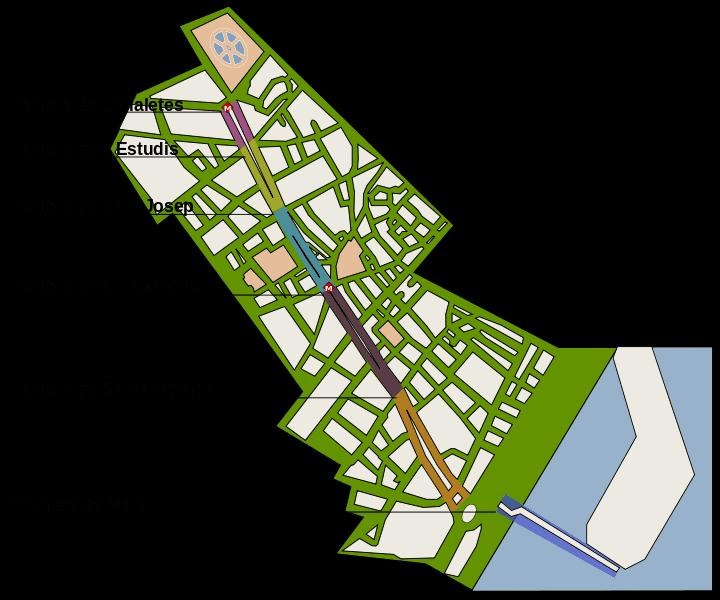 Карта улицы