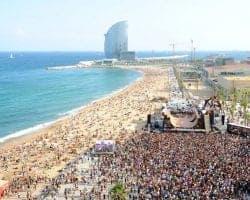 Паздничные мероприятия на пляже