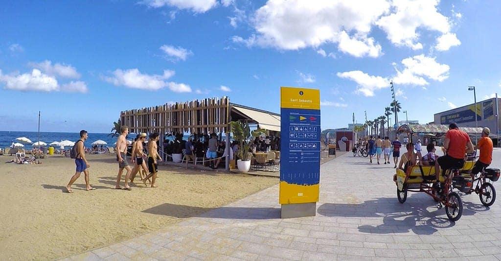 Территория пляжа