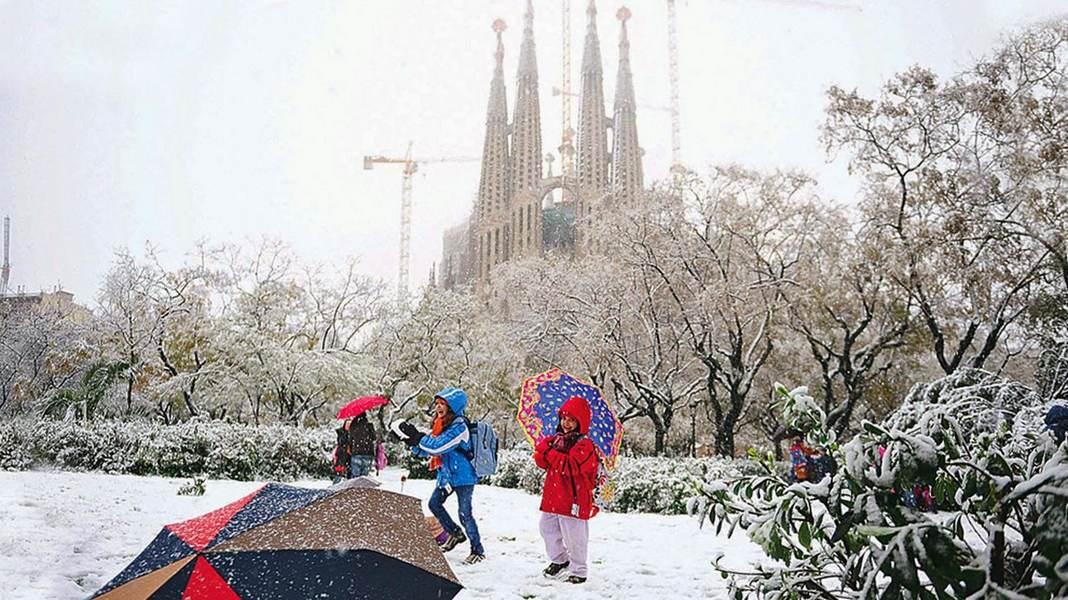 Снег в Барселоне (2015 год)