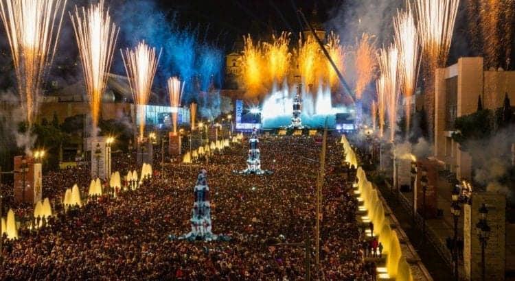 Площадь Испании в канун Нового года