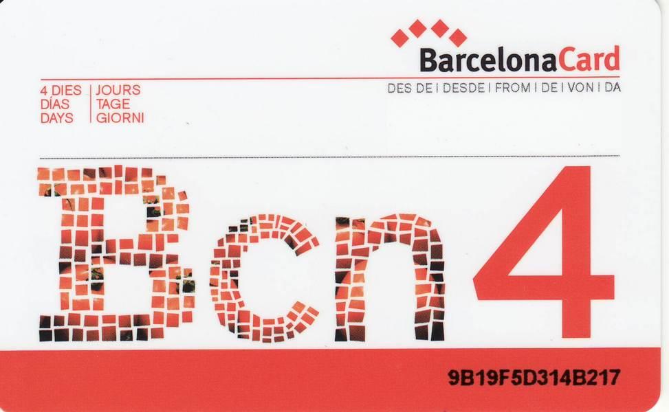Барселона 4 дня - туристическая карта для туриста