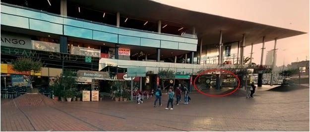 Вид на т/ц Маремагнум со стороны кинотеатра