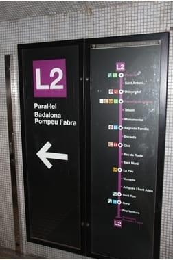 Едем в направлении Sagrada Familia