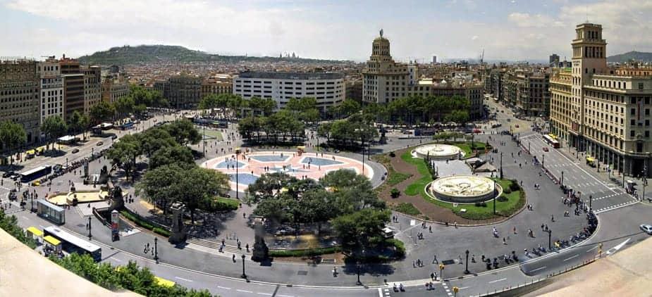 Площадь Каталонии (вид сверху)