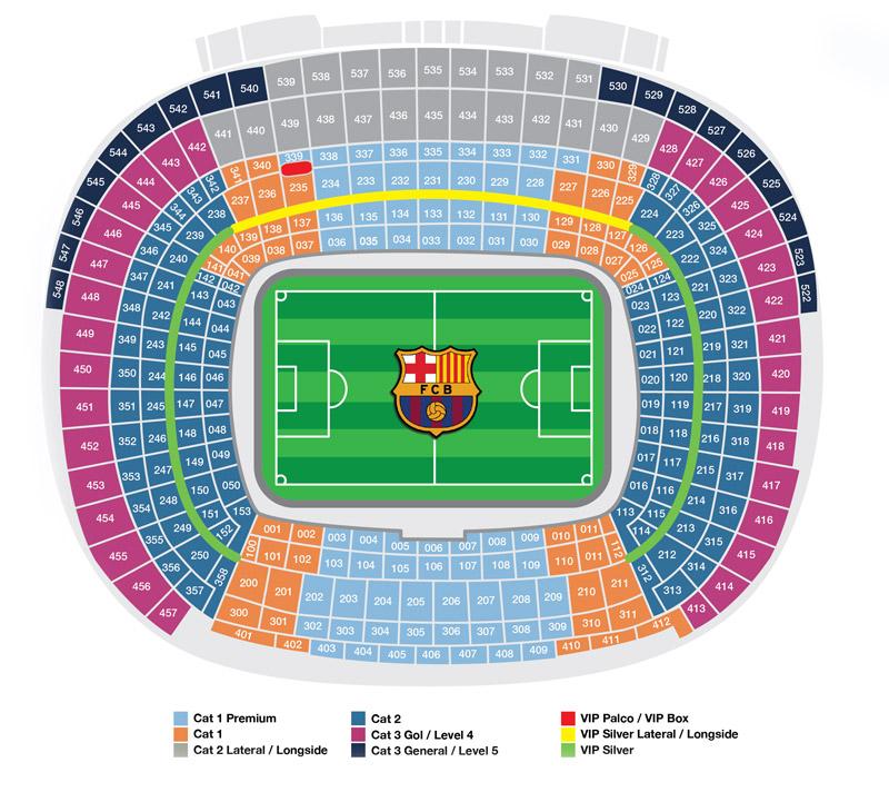 План стадиона Камп Ноу