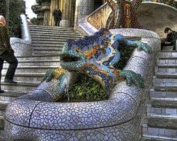 Мозаика и ящерицы Гуэля