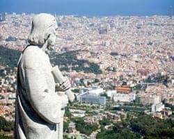 Вид на Барселону со смотровой площадки Храма