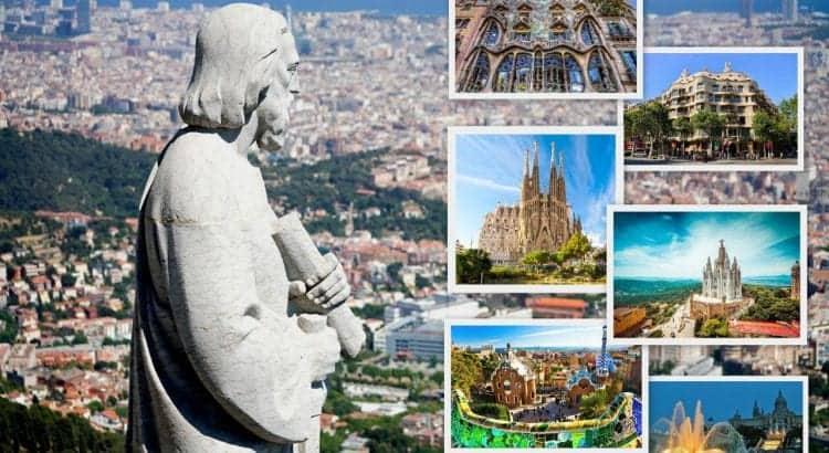 Главные достопримечательности Барселоны - коллаж