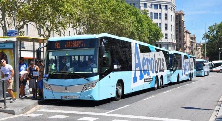 Aerobus в Барселоне